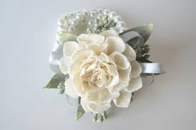 white corsages for prom dahlia wristlet corsage traditional wrist corsage keepsake