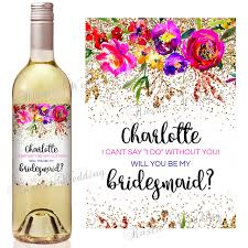 asking bridesmaid gifts set of 16pcs custom bridesmaid gift bridesmaid wine