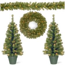 national tree co 4 piece entrance pine artificial christmas tree