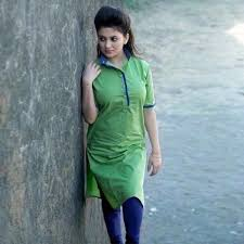 green pure cotton kurti