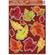 fall thanksgiving window clings indoor decorations 9 pcs
