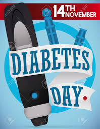 commemorative design for diabetes day with a lancet spare