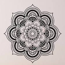 Livingroom Yoga Wall Stickers Mandala Yoga Ornament Indian Buddha Symbol Decal Art