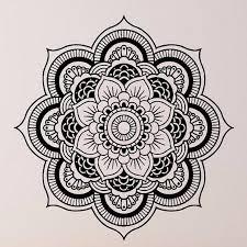 wall stickers mandala ornament indian buddha symbol decal