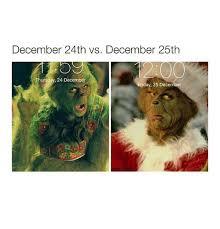 december 24th vs december 25th thursday 24 december day 25