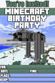 Minecraft Invitation Cards Minecraft Party Invitation 2016 Minecraft Paper Quilling New Year