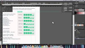 Resume Sample Using Html by Adobe Illustrator Cc Resume Design Youtube
