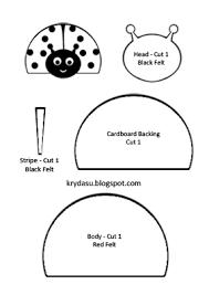 ladybug template cut out patterns patterns kid