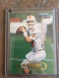 lot detail peyton manning 1998 fleer tradition rookie card