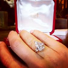 cartier diamond ring cartier 3 92ct pear shaped diamond ring whitlauter
