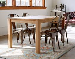 White Oak Dining Room Set - solid red oak parsons dining table customizable