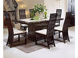 harveys patra marble dining table and 6 chairs sideboard and