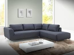 canapé d angle tissu design canapé d angle en tissu gris foncé avec coussins inclus