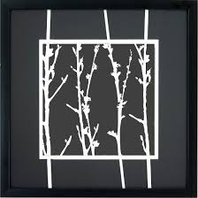 white branches a wall 16x16 target