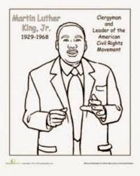 coloring pages martin luther king jr day activity for kids le top