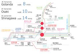 Shinagawa Station Map Gotanda New Development Japan Hana Real Estate
