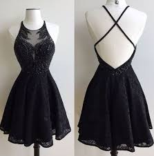 party dress black lace prom dress short special occasion https