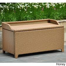 Outdoor Storage Coffee Table International Caravan Barcelona Resin Wicker Aluminum Outdoor