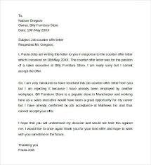 nice counter offer letter sample u2013 letter format writing