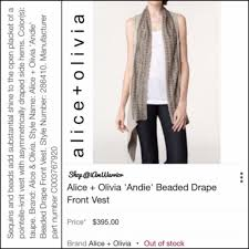 Drape Cardigan Pattern 43 Off Alice Olivia Sweaters Alice Olivia Beaded Drape