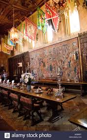 Hearst Castle Dining Room Hall Of The Tapestries Stock Photos U0026 Hall Of The Tapestries Stock