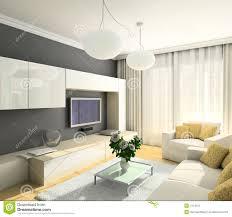 Furniture Of Living Room 3d Render Modern Interior Of Living Room Stock Image Image 4714221