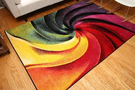 Colorful Modern Rugs Radiance Collection Contemporary Modern Swirl Wool