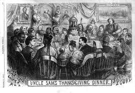 what does thanksgiving mean uncle sam u0027s thanksgiving dinner u2013 two coasts two perspectives