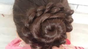 flower hair bun flower bun