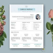 Iwork Resume Templates Creative Resume Template 3 Page Cv Template And Free Cover