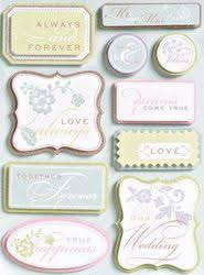 wedding scrapbook stickers wedding words embossed scrapbooking stickers k and company