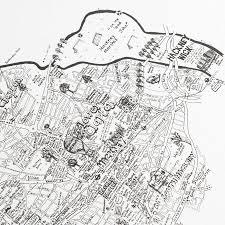 hackney hand drawn london map print by lovely jojo u0027s