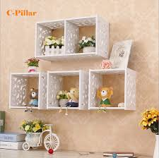 Decorative Wall Shelves For Bathroom Bathroom Decorative Grid Cabinet Wall Shelf Storage Holder