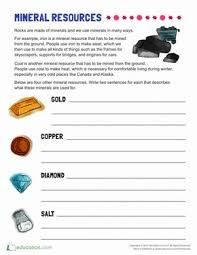 mineral worksheets free worksheets library download and print