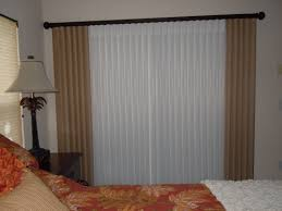 decorating vertical blinds home depot with white curtains and