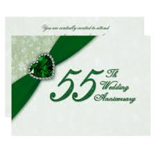 55th wedding anniversary for 55th wedding anniversary invitations announcements zazzle
