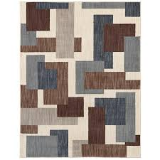Mohawk 8x10 Area Rug Shop Mohawk Home Barrage Beige Indoor Novelty Area Rug Common 8
