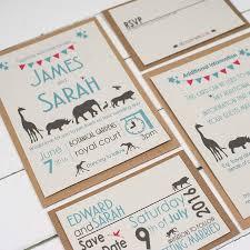 wedding invitation set safari wedding invitation set by talk of the town