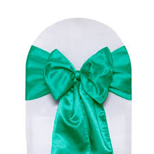 satin sashes satin sashes teal pack of 10 your chair covers inc