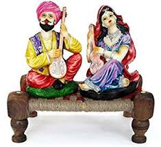 Handicraft Home Decor Items Buy Tied Ribbons Rajasthani Couple Idols Home Decor Items In