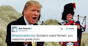 Funny Scottish Memes - scots shower trump with glorious scottish insults after his brexit