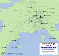 Turkish Airlines Route Map by Swissair Virtual Destinations