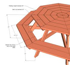fresh octagon picnic table blueprints 18 by attractive picnic