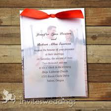 layered wedding invitations photo ribbon layered wedding invites iwfc041 wedding