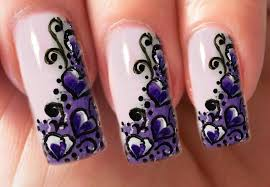 valentine u0027s day special 7 10 purple one stroke herzen nail art
