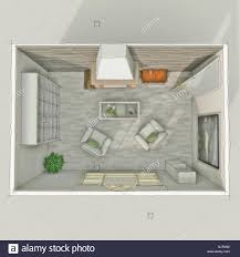 Room Sketch 3d Freehand Sketch Drawing Of Interior Roofless Living Room With
