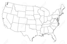 United States Map Without Labels by Vector Map Of United States Of America With States Outline Us And