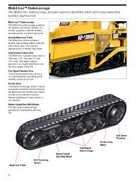 mobil trac undercarriage milton cat ap1055d user manual page