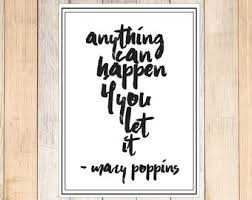 mary poppins quote etsy