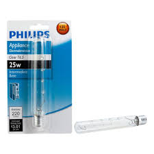 home depot microwave light bulb philips 25 watt t6 5 appliance incandescent light bulb 416289 the